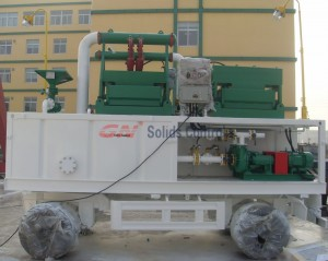 GN200gpm trailer mounted mud system for water well drilling