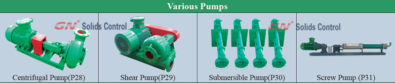 various pumps